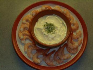 Rezept: Fischgerichte: Garnelen mit Knoblauchmayonnaise