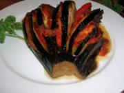 Auberginenfächer aus dem Ofen - pur oder als Beilage - einfach ein Genuss (kalorienarm) - Rezept