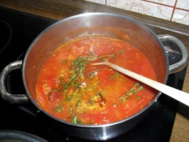 Maultaschen in Tomatensoße mit Schinken und Käse überbacken Bilder sind online - Rezept - Bild Nr. 5