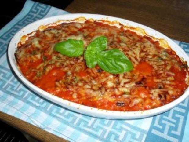 Maultaschen in Tomatensoße mit Schinken und Käse überbacken Bilder sind online - Rezept - Bild Nr. 9