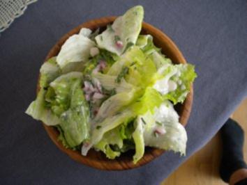 Lammragout mit Teigwaren und Salat - Rezept