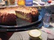 Kuchen- Käse heute zweifarbig - Rezept