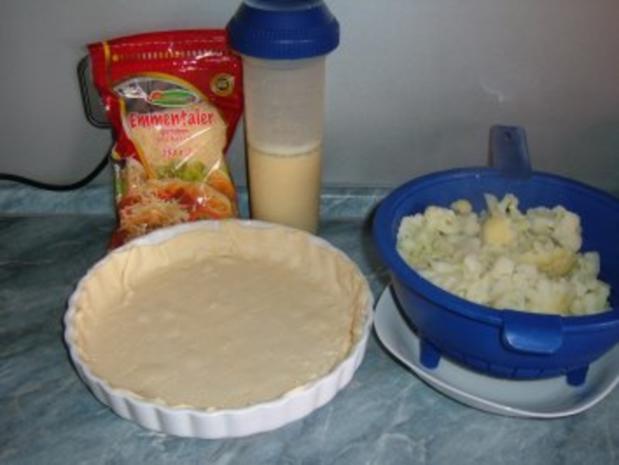 Blumenkohl - Blätterteig -Torte - Rezept - Bild Nr. 2