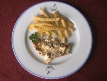 Rezept: Gyrosschnitzel mit Schafskäse