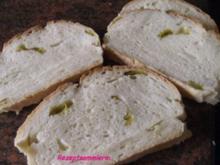 Brot:  CIABATTA mit mild eingelegten Pfefferschoten - Rezept