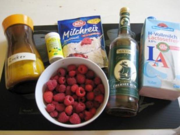 Milchreis mit in Rum eingelegten Himbeeren - Rezept - Bild Nr. 2