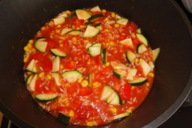 Tomatige Zucchini mit Reis - Rezept - Bild Nr. 2