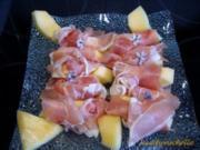 Melone mit Schinken - Rezept