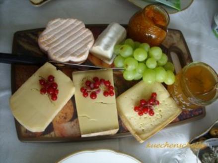 Käseplatte - Rezept