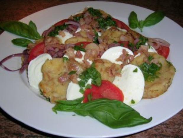 Salat von der Knödelrolle- mediterran angehaucht, echt lecker und keine Restaurantportion - Rezept - Bild Nr. 2