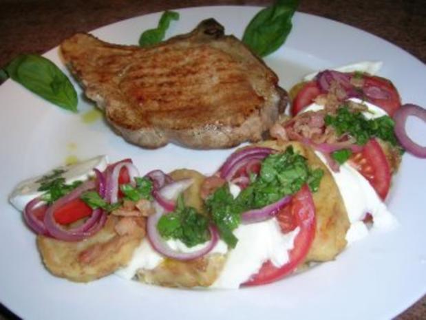 Salat von der Knödelrolle- mediterran angehaucht, echt lecker und keine Restaurantportion - Rezept - Bild Nr. 4