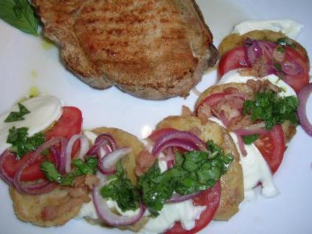 Salat von der Knödelrolle- mediterran angehaucht, echt lecker und keine Restaurantportion - Rezept - Bild Nr. 7
