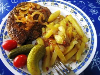 Falsches Rindersteak aus Hackfleisch - Rezept