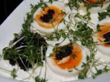 Vegetarisch: Quark mit Ei im Kressebett - Rezept