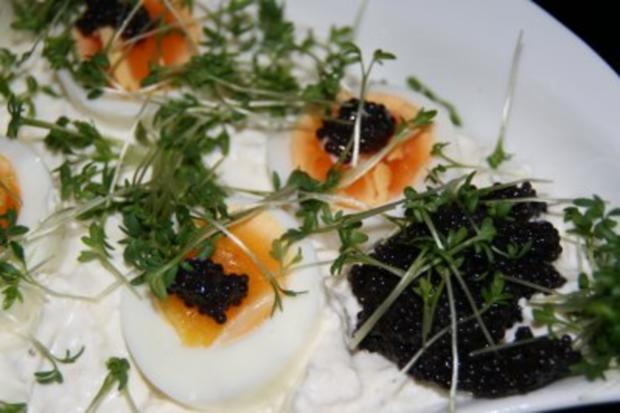 Vegetarisch: Quark mit Ei im Kressebett - Rezept - Bild Nr. 4