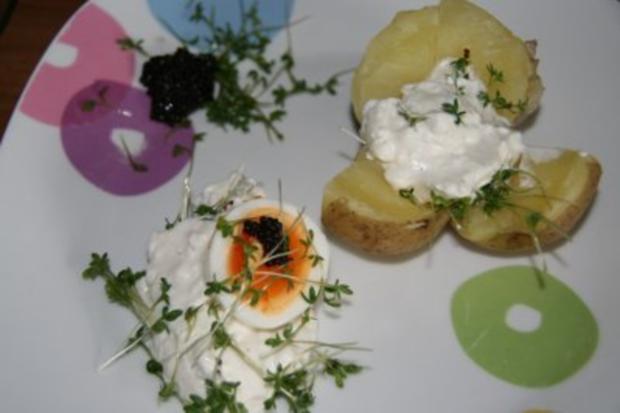 Vegetarisch: Quark mit Ei im Kressebett - Rezept - Bild Nr. 5