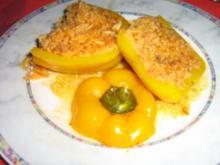 Paprika gefüllt mit Reis-Bolognese - Rezept