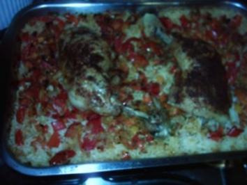 Albanischer Hähnchenreis - Rezept