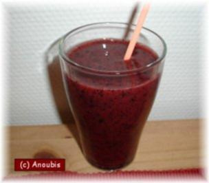 Rezept: Kaltgetränk - Heidelbeer Frappé