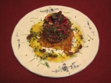 Rote-Rüben-Frischkäse-Variation auf Kartoffelrösti - Rezept