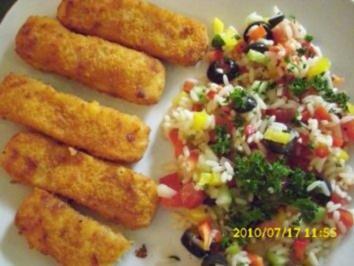 Salat : Gemüse - Reissalat - Rezept