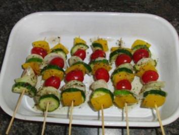 Provenzalische Gemüsespieße - Rezept