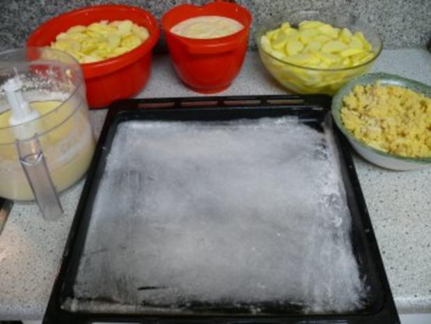 Apfel-Quark-Kuchen vom Blech - Rezept - Bild Nr. 6