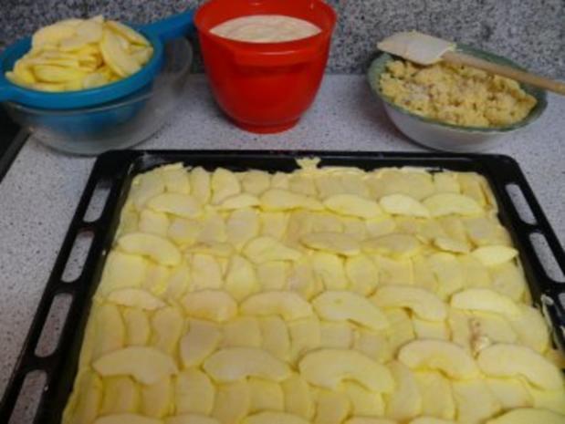 Apfel-Quark-Kuchen vom Blech - Rezept - Bild Nr. 7