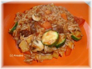 Hauptgericht vegetarisch - Scharfer Reistopf - Rezept