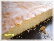 Kuchen/Gebäck - Zitronen-Blechkuchen - Rezept
