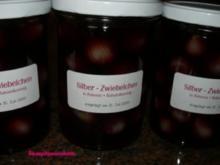 Gemüse:   SILBER - ZWIEBELCHEN   in Rotwein/Balsamiko - Rezept