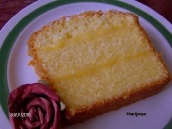 Sandkuchen mit Lemon Curd-Füllung - Rezept