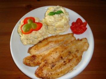 Rezept: Pangasiusfilet mit Kartoffelsalat