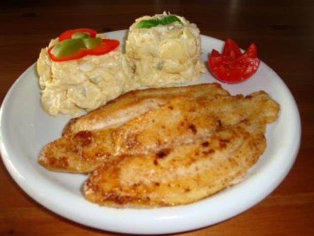 Pangasiusfilet mit Kartoffelsalat - Rezept - Bild Nr. 3