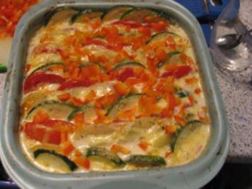 Gemüse- Quer durch den Garten gratiniert - Rezept
