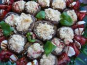 Champignons überbacken mit Ricottafüllung - Rezept