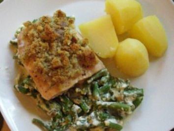 Rezept: Fisch : Bohnen - Lachs - Gratin, super lecker !