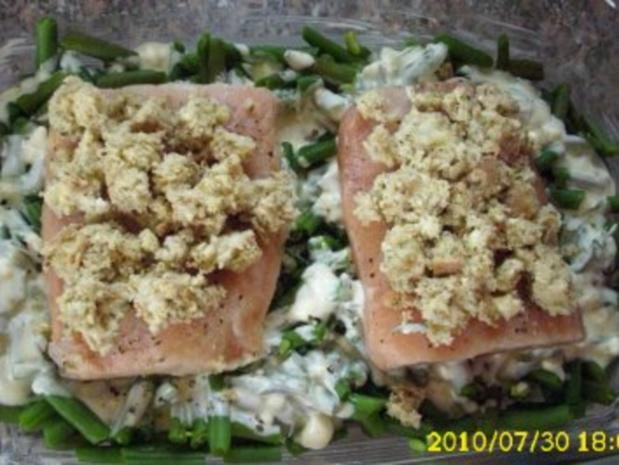 Fisch : Bohnen - Lachs - Gratin, super lecker ! - Rezept - Bild Nr. 2