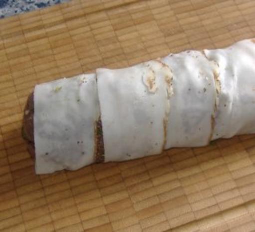 Mariniertes Ochsenfilet auf Bohnen-Tomatengemüse mit Senfsauce - Rezept - Bild Nr. 3