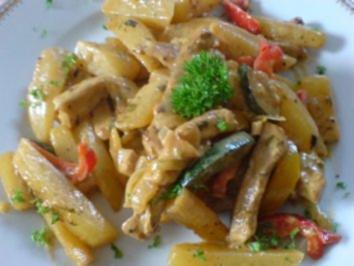 Schnitzel-Gemüse-Pfanne - Rezept