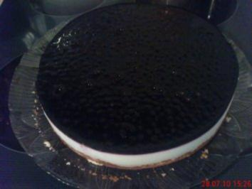 Joghurt-Quark-Waldheidelbeer Torte - Rezept