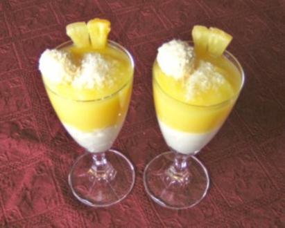 Kokos - Ananas - Dessert - Rezept