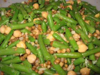 Erbsen-Bohnen-Linsen-Salat - Rezept