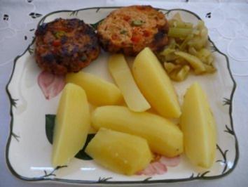 Hackfleisch : Putenhack - Gemüse - Frikadelle - Rezept