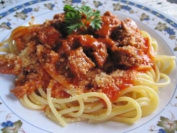 Ganz fixe Spaghetti  ... - Rezept