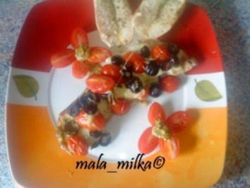 Tomaten - Mozzarella - Schnitzel mit Oliven - Rezept