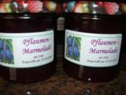 M+G:  PFLAUMEN - MARMELADE - Rezept