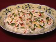 Marinierter Mozzarella in Crème fraîche (Susann Atwell) - Rezept
