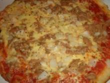 Pizza : Thunfischpizza mit Kartoffelteig - Rezept