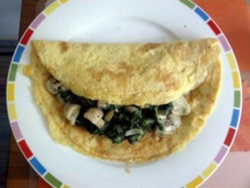 Pilz-Spinat-Omelette - Rezept